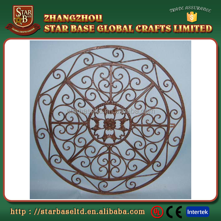 Creative wall design wrought iron hotel wall hanging decoration