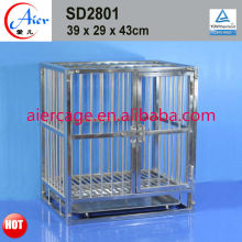 steel tube square dog cage