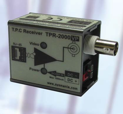 1 Channel Video & Power Transmitter TPR2000VP