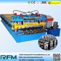 FX glazed aluminum sheet metal roofing rolls forming machine
