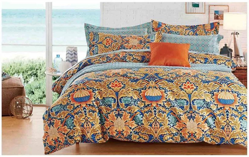 microfiber bedding 100%polyester printed bed sheet sets coming home bedding HFJ