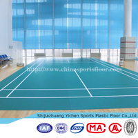 High quality badminton court floor pvc sponge covering
