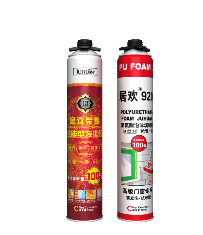 JUHUAN fast cured spray pu polyurethane adhesive foam for insulation