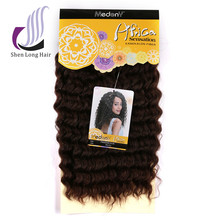 Japanese fiber curly synthetic hair extensions for black women