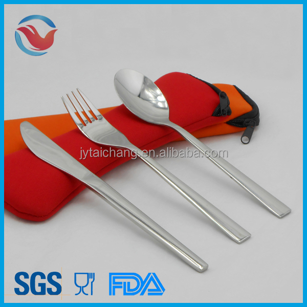 Travel Cutlery Set, Stainless Steel Promotion Flatware Set, Knife, Fork and Spoon.