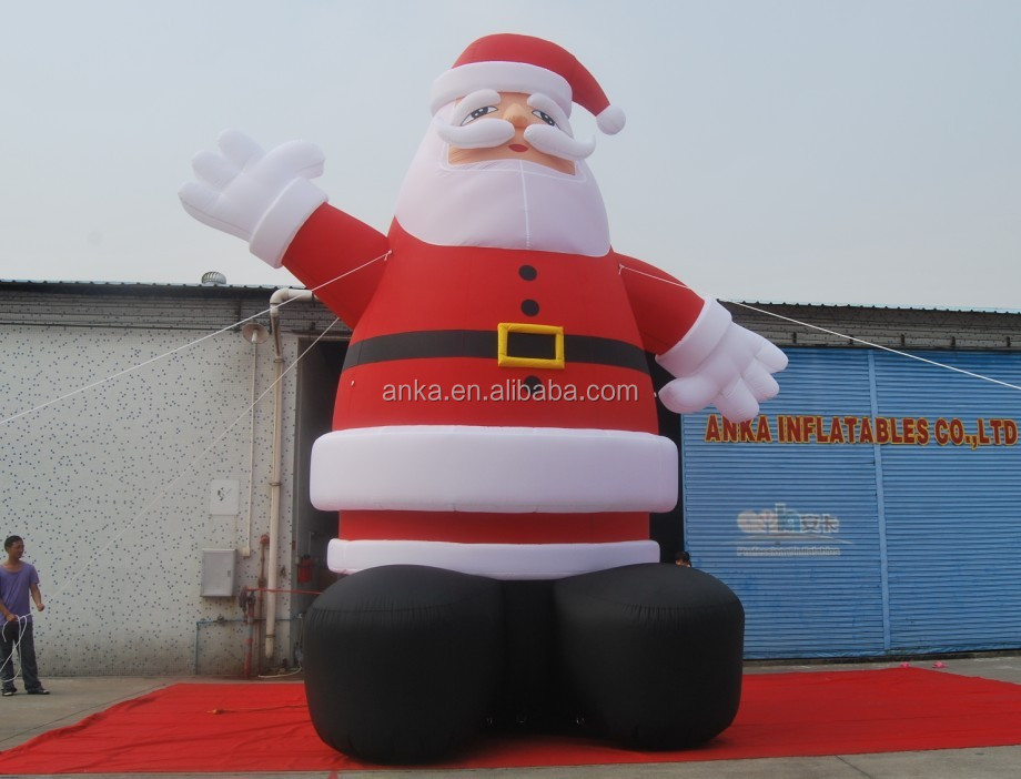 2017 new design custom large inflatable christmas father, christmas inflatable model for sale