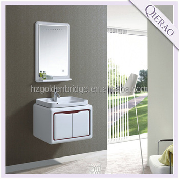 wall hung PVC bathroom cabinet led mirror light C-119