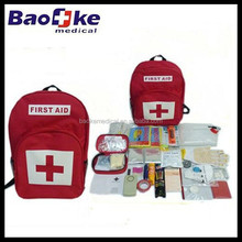 Private labeling Earthquake backpack design Survival backpack first aid kits OEM