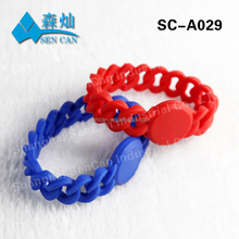 13.56mhz nfc RFID silicone Wristband/bracelet tag waterproof