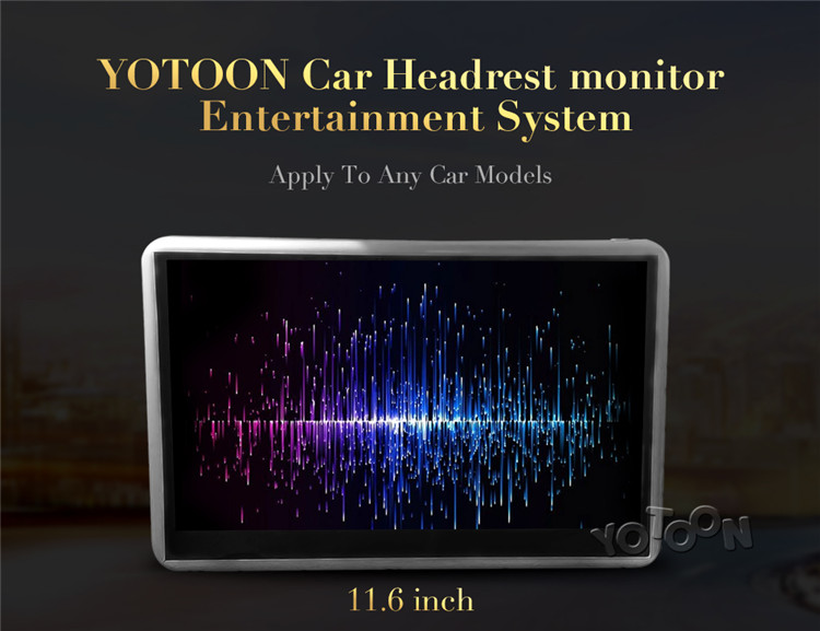 11.6 inch Headrest Monitor Android with WiFi/USB/SD Universal Hanging for back seat