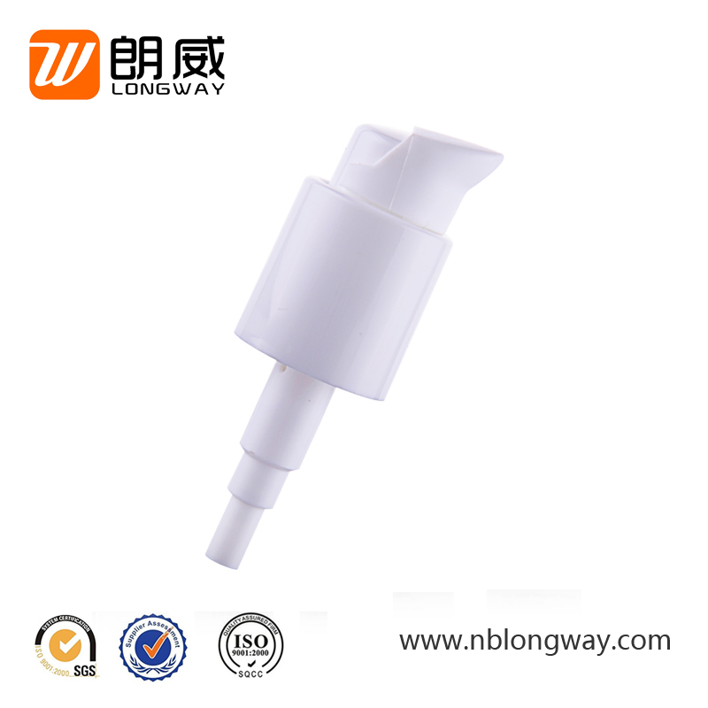 24/410 white color left-right open liquid soap dispenser personal care cream plastic hand wash lotion pump