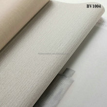 BV1004 HL Decoration grey color durable fabric back outdoor plastic wall covering