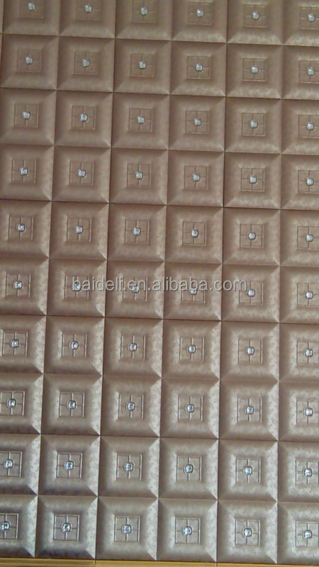 China factory faux leather wall panels for decoration