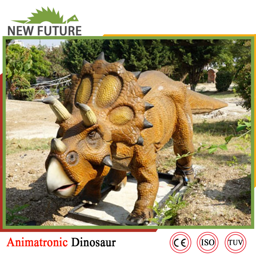 Outdoor exhibition animated metal dinosaur