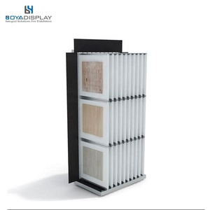 Page-turing Book Style ceramic Tile Flooring Wing Show Display Stand