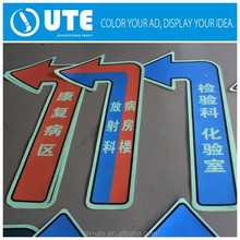 Custom Die Cut Vinyl PVC Floor Stickers Adhesive Stickers