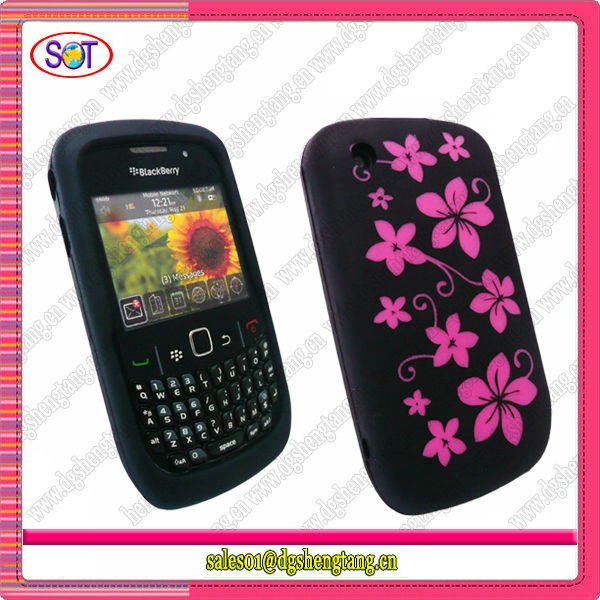 Cheapest Mobile Phone Silicone Cover for Blackberry 8520 Curve