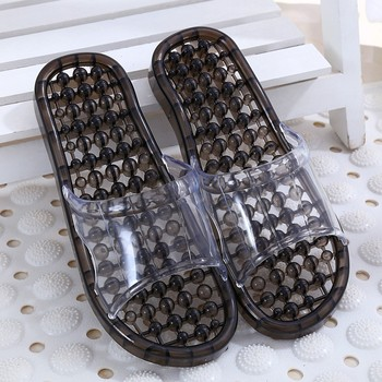 Beixiduo supplier high quality PVC hotel washable massage spa slipper men jelly anti-slip household slippers