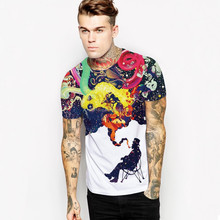 long sleeve couple t-shirt t-shirt for all over sublimation printing men's new design