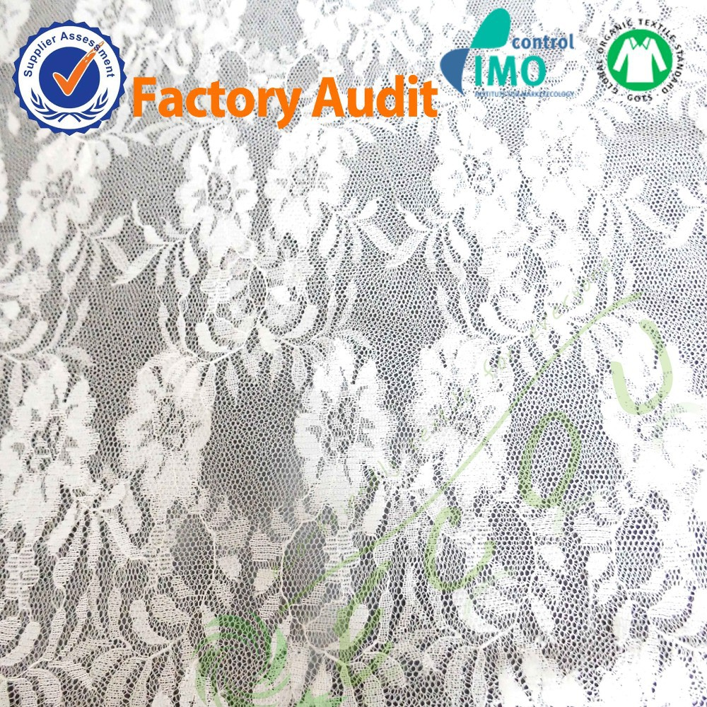 Factory Supply Lace Manufacturer With Custom Sizes White Guipurel Embroidery Lace Fabric