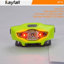 lightweight IPX6 waterproof rayfall hp1a led head flash light for outdoor sports