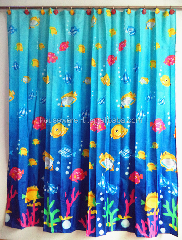 100% polyester fabric wholesale curtains of baby shower background