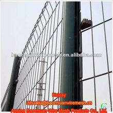 The pvc coated welded 3D panel residential wire mesh fence(Manufacture)