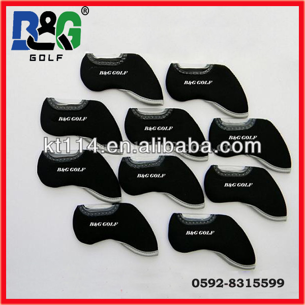 OEM logo durable and delicate Neoprene golf iron cover