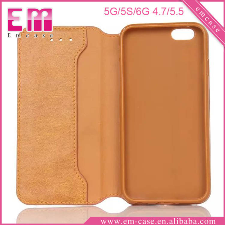 Classical PU Wallet Holder Case For Samsung S6/S6 Edge Leather Cases For Galaxy S6