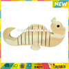 Wholesale top quality wooden mini fish toy customize wooden mini fish toy W03A018