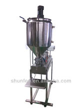 Heated Viscous Grease Filling Machine with mixer and table stand (200-2500ml) (Viscous grease, butter, cheeze, sauce, Gel)