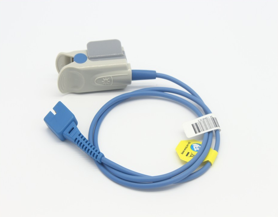 High quality CE & ISO approved nellcor DS-100A DB9pin adult finger clip spo2 sensor with oximax