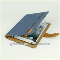 "blue silk linen smart 7"" 8"" universal compute leather cover"
