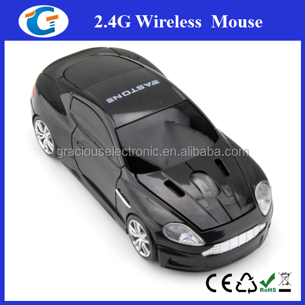 3 Button Car Shaped PC Mouse with Scrollwheel and LED Lights - For Laptop / Netbook / Desktop Computers GET-MCR20