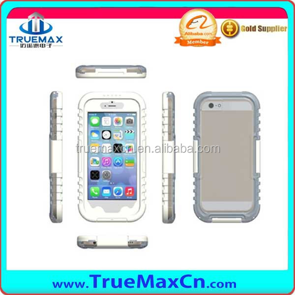 Waterproof Case for iPhone 6 (4.7inch -5.5 inch) - Retail Packaging - Clear/Black
