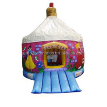 Round inflatable jumping castle, inflatable moon bouncer BO-110
