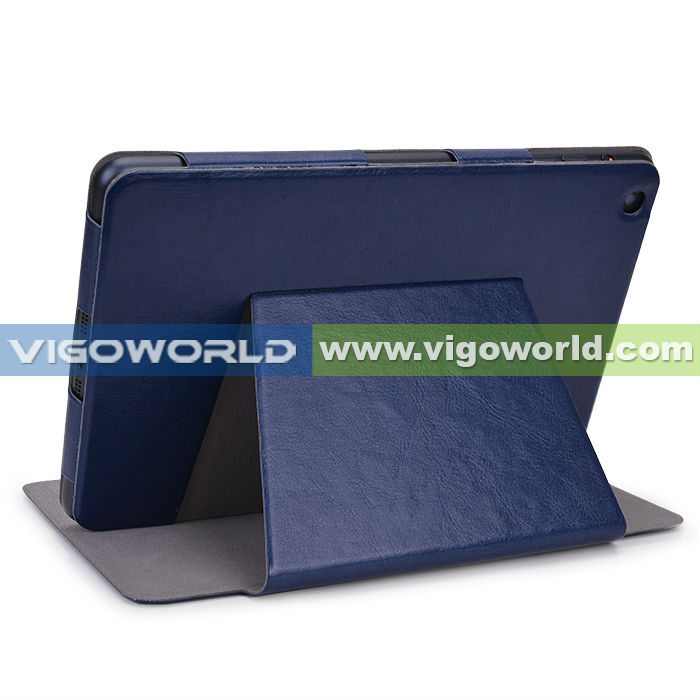 Blue Hot Press Leather Flip Case Cover Stand For Apple iPad Mini