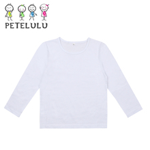 New Branded Children Clothes Cotton Kids Top Solid Color T-Shits Without Pattern Softextile Plain T Shirt