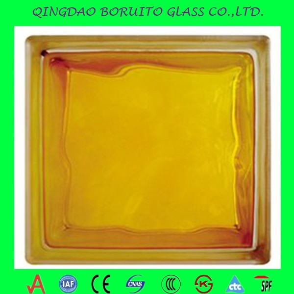 decorative stained wholesale glass blockbrick glass price