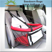 Foldable Car Booster Seat Pet Dog Basket Cage Carrier Bag for Buckle Hanging Car Bucket Seat Safety Leash Carrying Strap