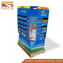 Custom Drugstore Pharmacy Paper Cardboard Display Stands For Tablet