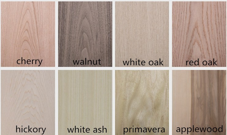 Natural wood veneer Ebony for wall panel