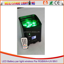 Factory Stage Lighting Rechargeable Wireless Dmx Battery Powered led par 6in1 Rgbwa Uv dj light