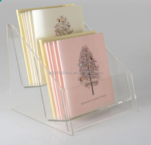 2 tier Acrylic wedding Greeting card display stand
