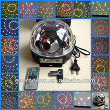 Originality colorful crystal led DJ magic ball light with music player