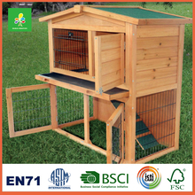 Wooden Rabbit Hutch with open cover