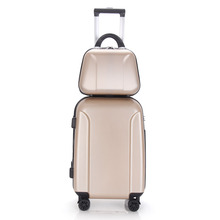 Customized Design Travel Trolley ABS PC Personalized Luggage Set Colorful Lady Trolley Luggage