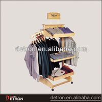 2016 New clothing store wooden display shelf
