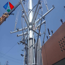 110 KV Power Transmission Line Tubular Steel Tower