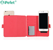 universal smart phone wallet style genuine pu leather phone case